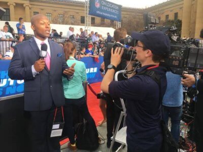 unnamed 4 400x300 NYC Cameraman on the Red Carpet of the NFL Draft with Pac 12