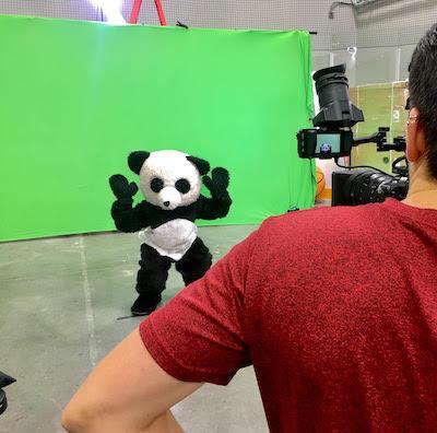 Panda on Dude Perfect