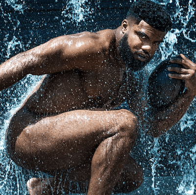 ESPN The Mag Ezekiel Elliot 1 Houston Cameraman with Ezekiel Elliott for ESPN The Mag Body Issue