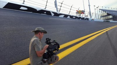 Cameraman on the Daytona Race Track