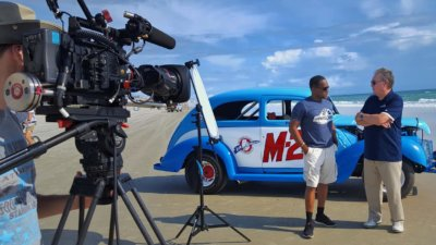 Ato Boldon at Daytona with NBC Sports
