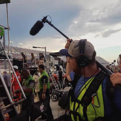 Cameraman at Daytona with NBC Sports