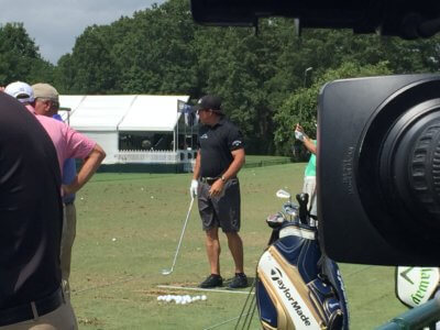 Tori Turner PGA 7 400x300 Charlotte Camera Crew at the PGA Championship with Turner
