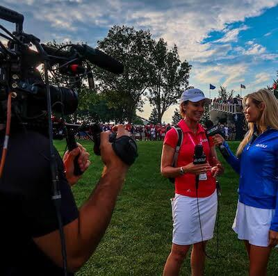 Golf Channel Solheim Cup 3 Chicago Camera Crew Teeing Up with the Golf Channel at the Solheim Cup