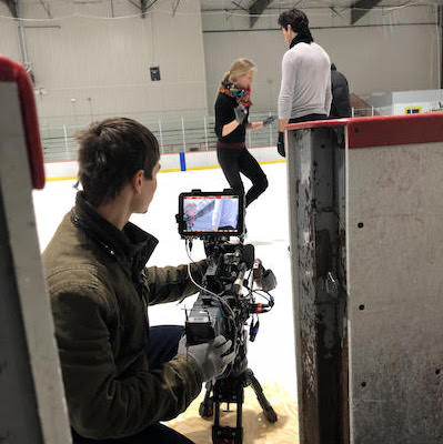 Kaitlyn Weaver and Andrew Poje on the ice