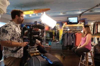CNBC Skate Shop 6 400x267 Cleveland Camera Crew Learns The Profit Effect with CNBC
