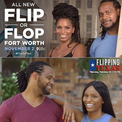 "Flip or Flop promo collage Texas Director of Photography On Season One of HGTV's ""Flip or Flop Ft. Worth"""