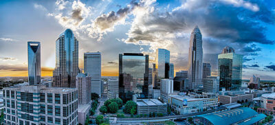 Charlotte cityscape 400x182 Video and Digital Producers Guide to Shooting in Charlotte, NC