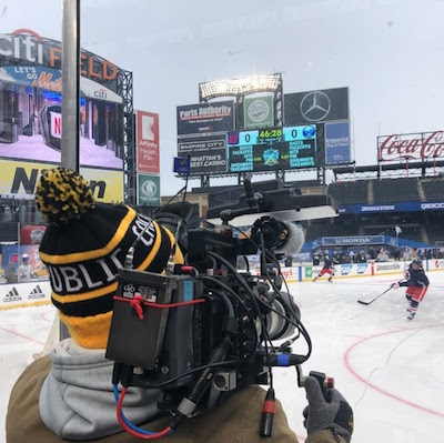 Video Production Crews at the NHL Winter Classic