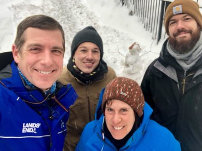 TWC Winter 1 400x300 Video Production Crew Braves the Winter Weather with The Weather Channel