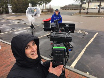 Video Production Crew Braves the Winter Weather with The Weather Channel