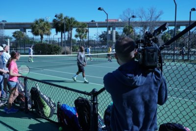 RB Volvo Car Open 1 400x267 Charleston Camera Crew Highlighting Up and Coming Tennis Athletes at Volvo Car Open for Obviouslee Marketing