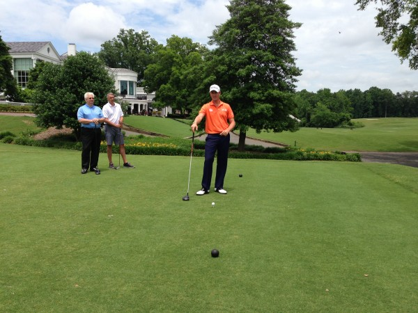 IMG 5589 600x450 Charlotte crew shoots with US Open champ, Webb Simpson.
