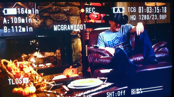 IMG 2691 600x337 Are you ready for some football? Our Nashville crew shoots a Thanksgiving promo with Tim McGraw