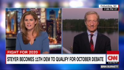 GTT1109Shoot1 400x225 Go To Team Columbia Crew | CNN   Tom Steyer Interview