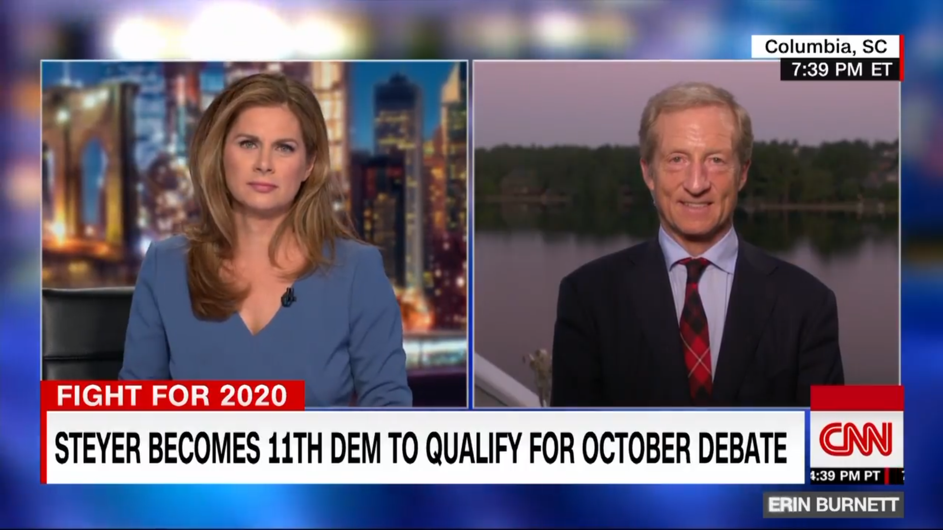 Go To Team Columbia Crew | CNN | Tom Steyer Interview