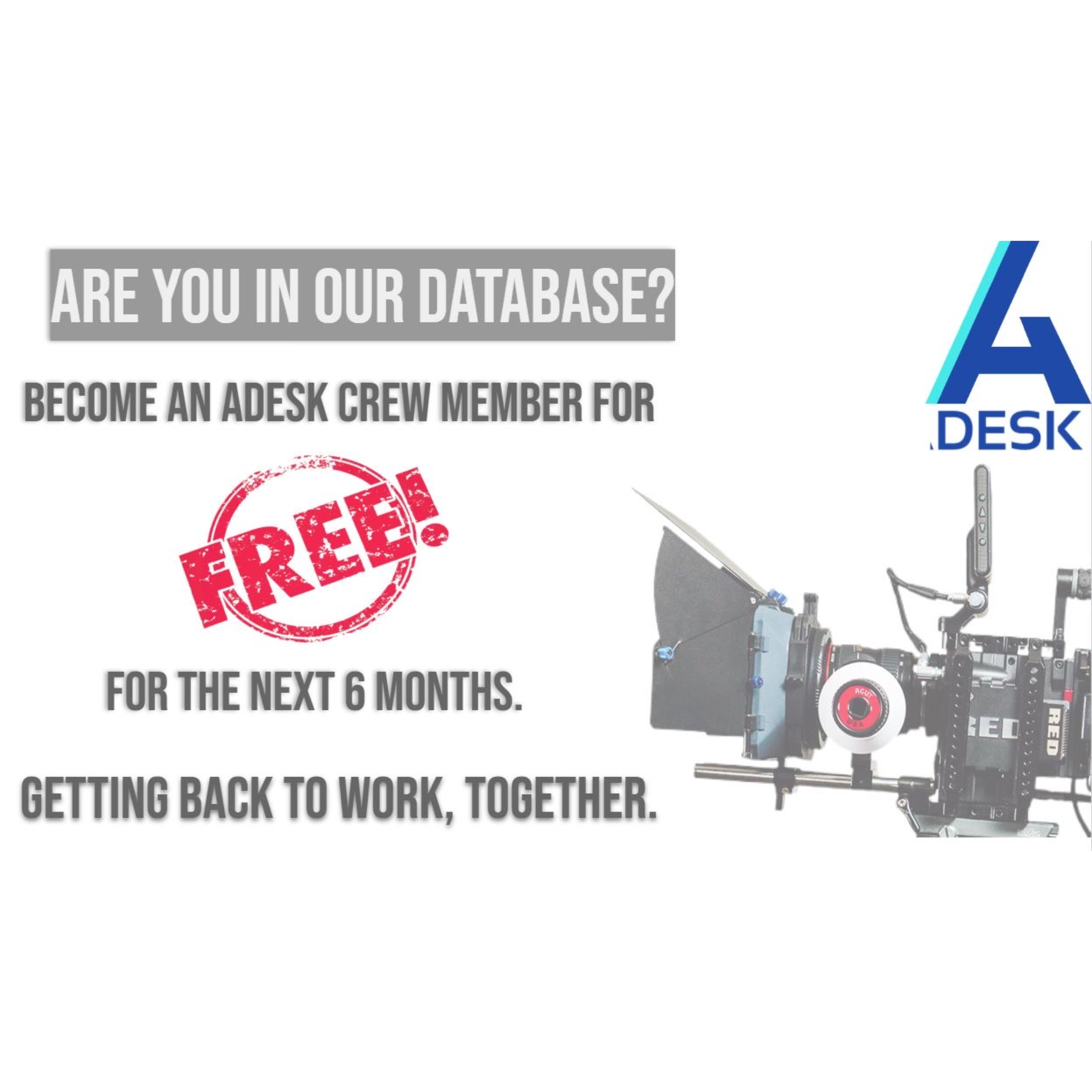 image0 1 Adesk App Crew Database is FREE for the Next 6 months to Vendors and Crew Members to Support them During the Crisis
