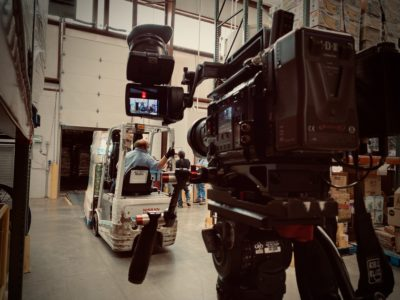 Go To Team Columbia, SC Video Camera Crew helps Walmart make a Food Bank Donation