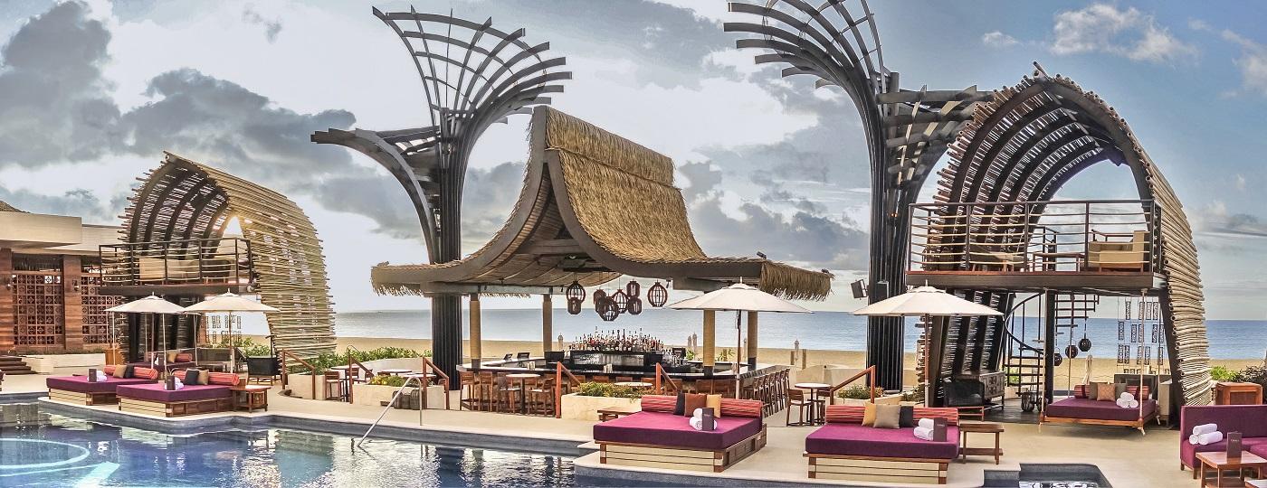 OMNIA Dayclub Los Cabos, overlooking the Sea of Cortez
