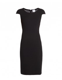 Stretch Wool Crepe Jersey Cap-Sleeve Dress  | Armani Collezioni