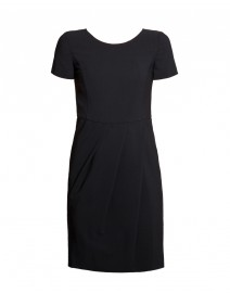 Black Seasonless Wool Dress | Armani Collezioni