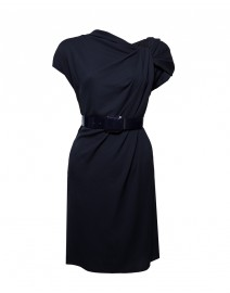 Wool Crepe Knotted Neck Dress | Armani Collezioni