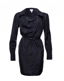 Washed Silk Tunic with Belt | Armani Collezioni