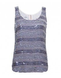 Sequin and Beaded Stripe Tank | Armani Collezioni
