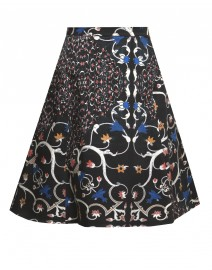 Vine Print Stretch Cotton Circle Skirt | Peter Som