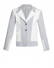 Cotton Blazer with Denim Inserts | Rani Arabella