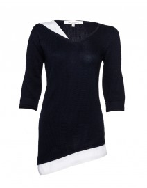 Asymmetrical Tunic with Poplin Detail | Rani Arabella