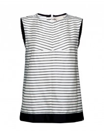 Canditi Striped Cotton Blend Top | MaxMara