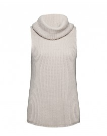 Madera Silk and Cotton Sleeveless Sweater and Snood | MaxMara
