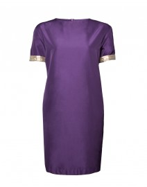 Ellade Cotton Dress with Gold Trim | MaxMara