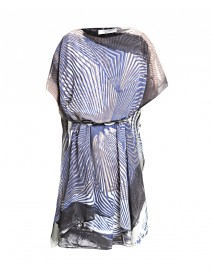 Geometric Printed Silk Caftan Dress | D.Exterior