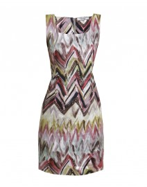 Painted Chevron Stripe Stretch Cotton Sheath | D.Exterior