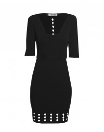 Laser Cut Stretch Knit Dress | D.Exterior