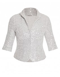 Reva Cotton Lurex Knit Jacket | Elie Tahari