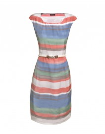 Striped Silk and Cotton Dress | Peserico
