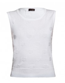 Embossed Dot Sleeveless Cotton Shell | Peserico