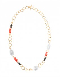 Coral Resin Section Necklace | Kara by Kara Ross