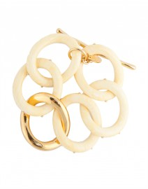 Ivory Twisted Oval Link Bracelet | Kara by Kara Ross