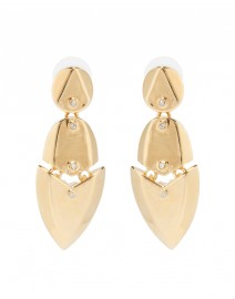 Artemis Gold Earrings with Crystals | Kara by Kara Ross