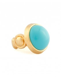 Large Cabochon Ring with Cast Stone Shank | Kara by Kara Ross
