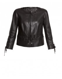 Stitch Leather Jacket | Paule Ka