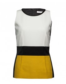 Gabardine, Cotton Pique and Ottoman Color Block Top | Paule Ka