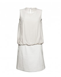 Stretch Silk and Coated Cotton Tweed Dress | Paule Ka