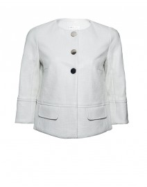 Coated Cotton Tweed Jacket | Paule Ka
