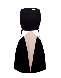 Crepe Paneled Dress | Paule Ka