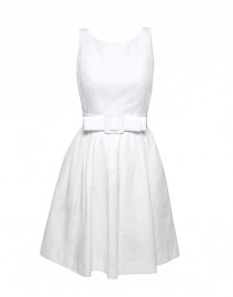 Cotton Pique Boat Neck Dress | Paule Ka